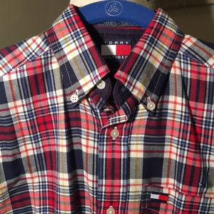Bright Plaid Light-Weight Flannel Button Down.
